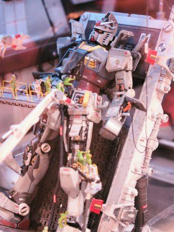 Diorama of Gundam