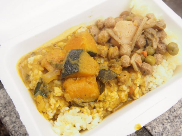 Pumpkin and Soy Bean Curry and Rice of Sri Lanka