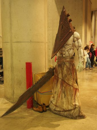 Cosplayer of Pyramid Head from Silent Hill