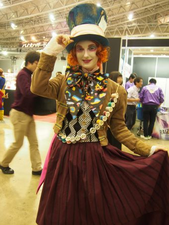 Cosplayer of The Mad Hatter from Alice in Wonderland