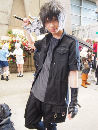 Cosplayer of Noctis from Final Fantasy