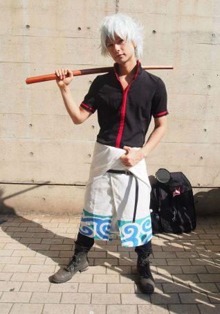 Cosplayer of Gintoki Sakata from Gintama