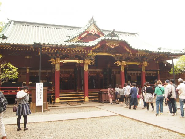 Main building of Nezu Shrine