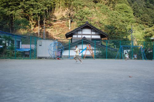Schoolyard of Hinohara Nature Lodge