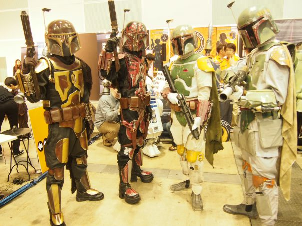 Cosplayers of Boba Fett
