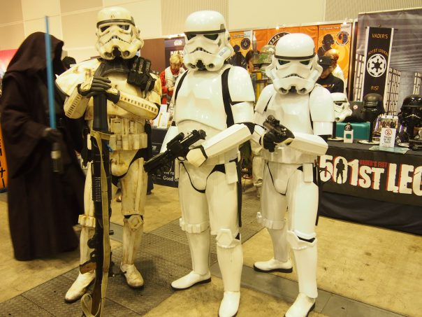 Cosplayer of Storm Trooper