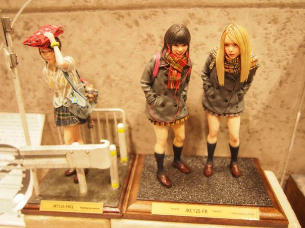 Figures of high school girl
