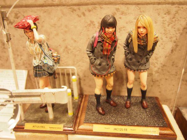 Figures of high school girl