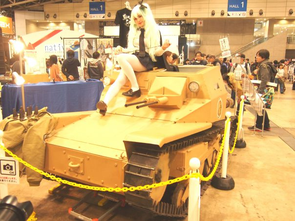 Cosplayer on the Tank