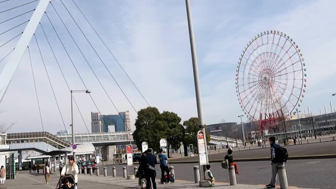 Ferris Wheel in front of Tokyo Teleport Station