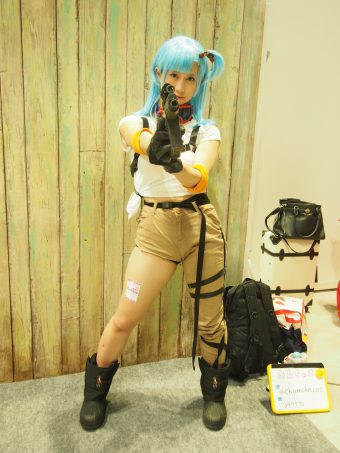 Cosplayer of Bulma