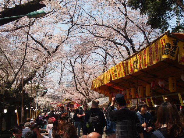 Fodd Stalls in Ueno Park