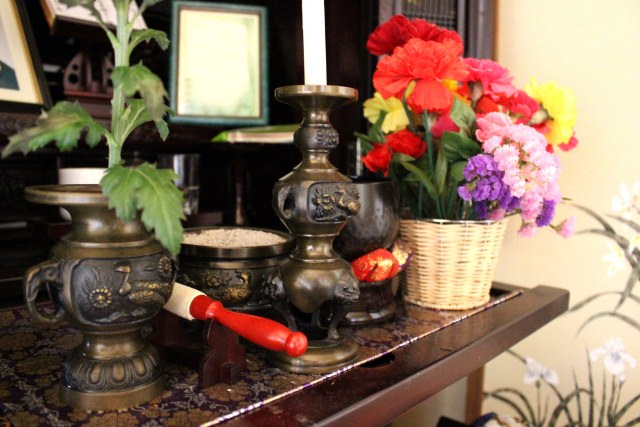 Buddhist Altar and Offerings