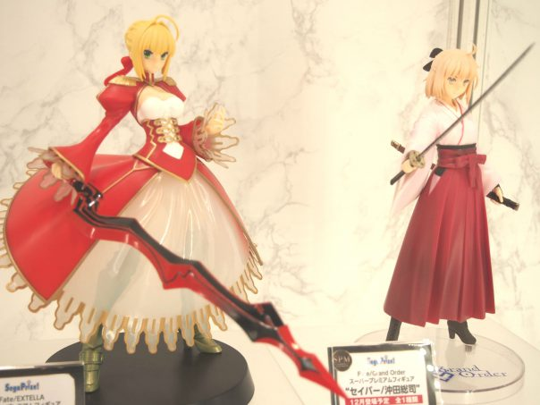 Saber Lily from Fate/Extella and Soshi Okita from Fate/Grand Order