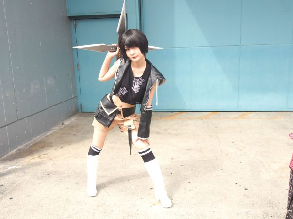 Cosplayer of Yuffie from Final Fantasy