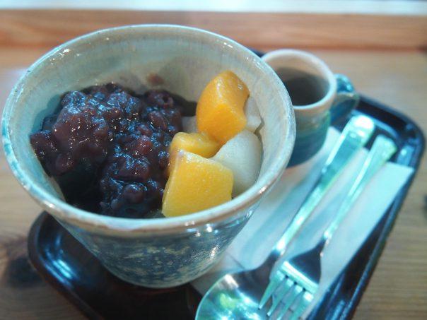 Anmitsu at Hongu Cafe