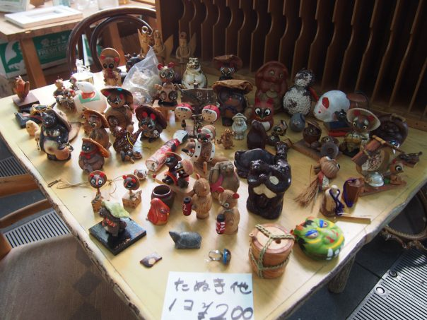 Statues of Tanuki