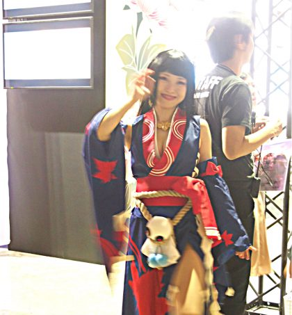 Cosplayer of Kijomomiji from Onmyoji