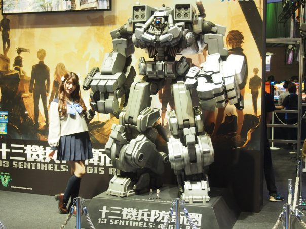 Robot and Cosplayer of 13 SENTINELS: AEGIS RIMATLUS
