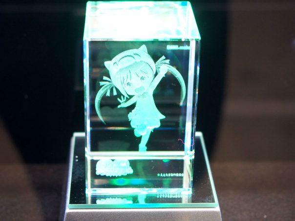Miku Hatsune in glass case