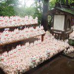 Cat Statues at Gotokuji Temple