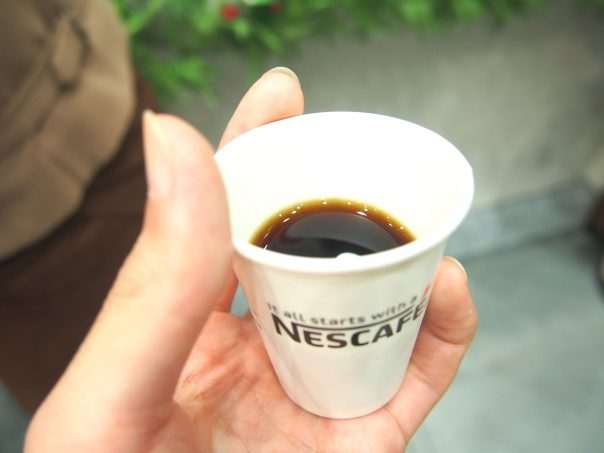 Sample of Organic Coffee of NESCAFE