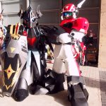 Cosplayer of Gundam and Iron Leaguer