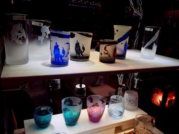 Stained glass and sandblasting glass of Iroshita Factory