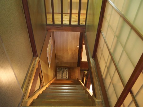 Looking down at the Stairs